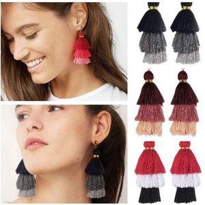 Jewelry - JUST IN!!!! Triple Tiered Fringe Earrings